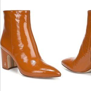Sam Edelman orange booties